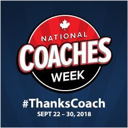 National Coaches week infographic #ThanksCoach Sept 22-30 2018