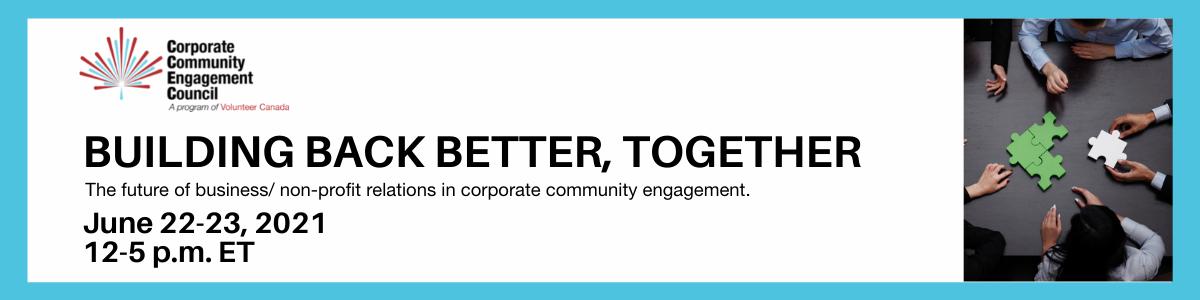 CCEC Gathering June 2021: Build Back Better, Together