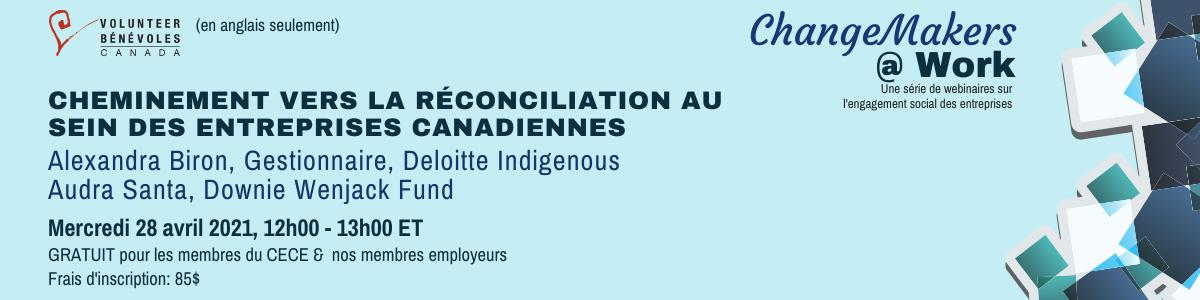 Webinaire : Cheminement vers la réconciliation au sein des entreprises canadiennes