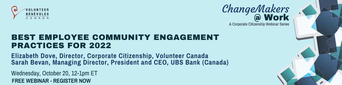 Changemakers at work webinar series: Next webinar on Wednesday, October 20