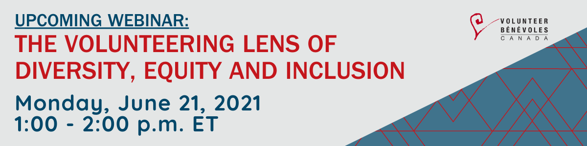Webinar June 21 The Volunteering Lens of Diversity, Equity and Inclusion