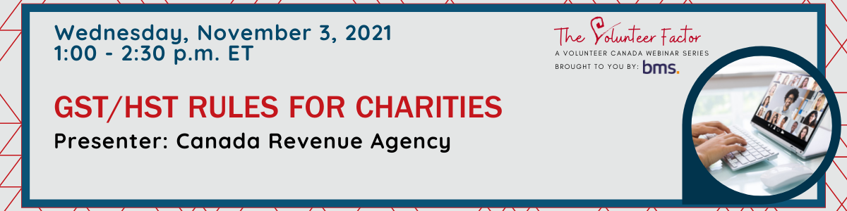 Webinar:  GST/ HST Rules for Charities