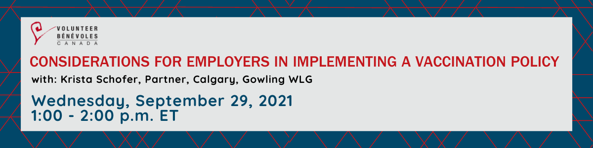 Webinar : Considerations for employers in implementing a vaccination policy