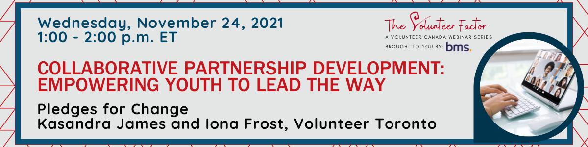 Webinar Banner Image for November 24, 2021: Collaborative Partnership Development