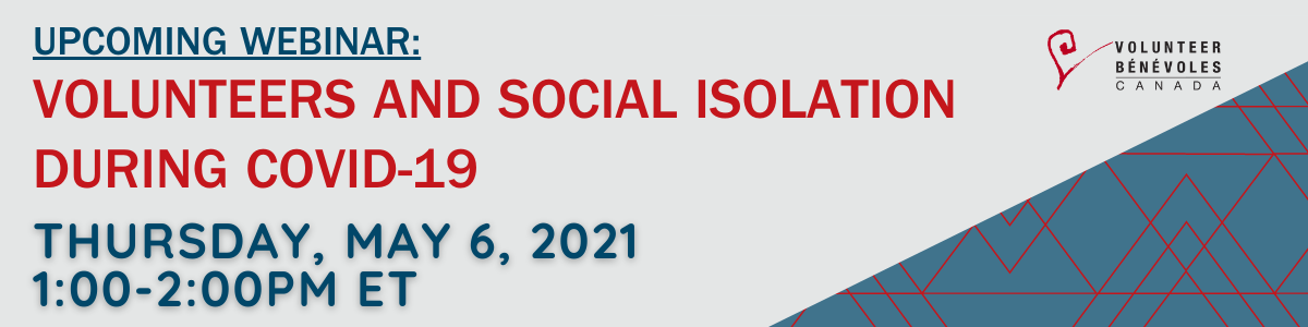 Webinar: Volunteers and Social Isolation During COVID 19