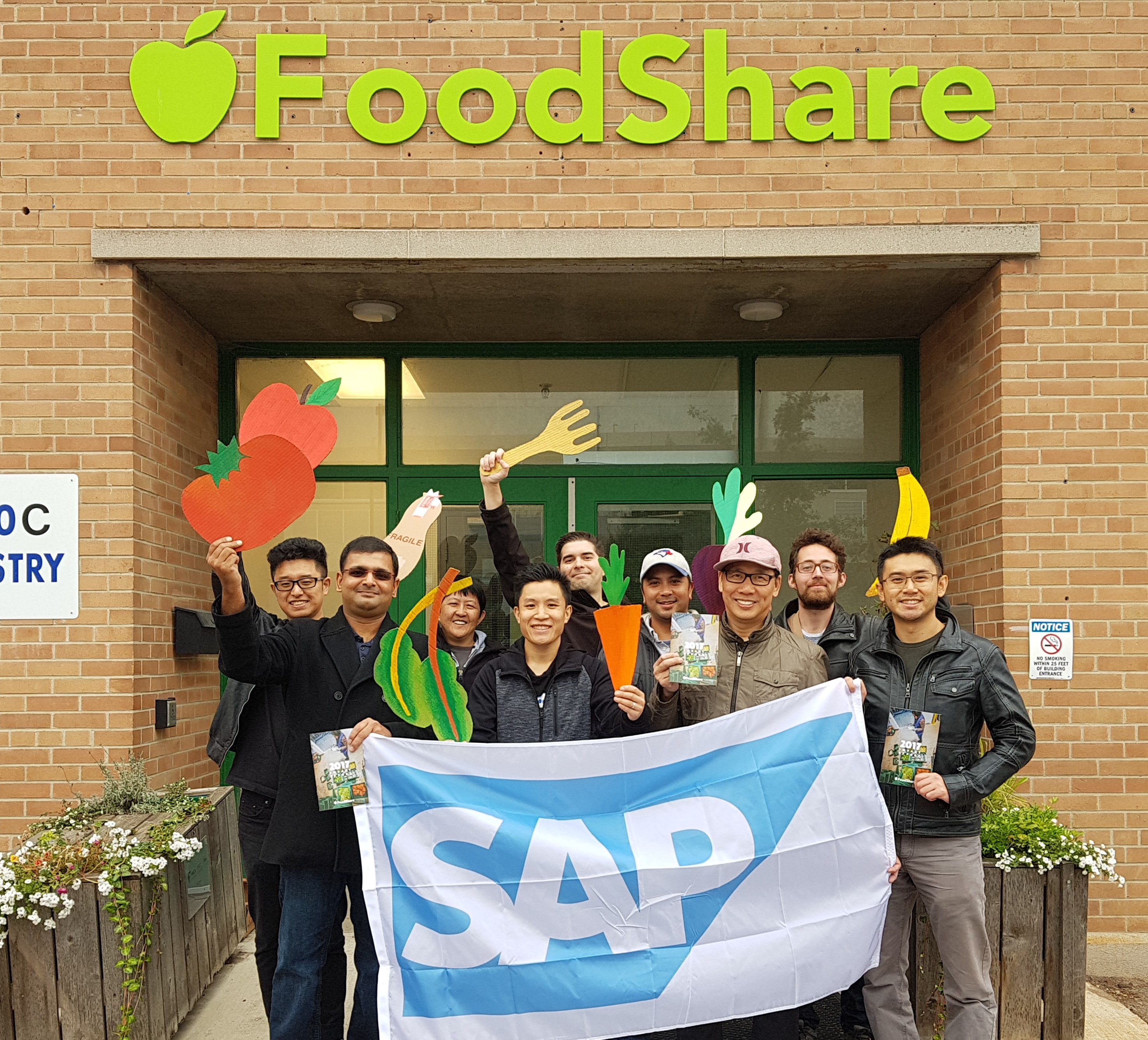 Volunteers from SAP volunteered at FoodShare on behalf of Month of Service, packing Super School Packers for youth breakfast programs.